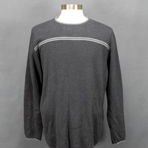 Geoffrey Beene Mens Crew Neck Pullover Sweater Sz XL Charcoal Gray Long ... - $19.34