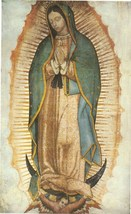 """Our Lady of Guadalupe - Picture 6""""x 9"""" - Full Image – with white broader - P-3"""