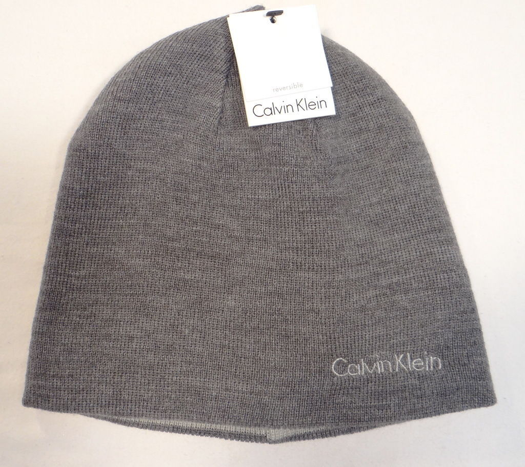 8c743583c866c Calvin Klein Reversible Gray Knit Beanie and 50 similar items. 57