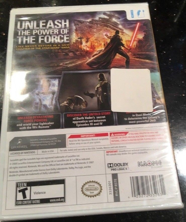 Star Wars The Force Unleashed Nintendo Wii 2008 NEW FACTORY SEALED GAME image 2