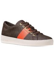 New Michael Kors MK Women's Premium Designer Keaton Lace Up Shoes Brown Mimosa