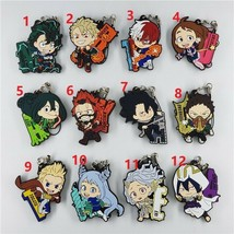 My Hero Academia Rubber Strap Boku no Hero Academia Keychain Keyring Bakugo Gift - $4.64+