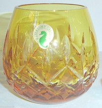 Waterford LISMORE Cased Yellow Votive Candle Holder Crystal 142166 New In Box - $108.90