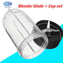 Plastic Stainless Steel Black Blender Blade + Cup Set Blender For Magic ... - $21.16