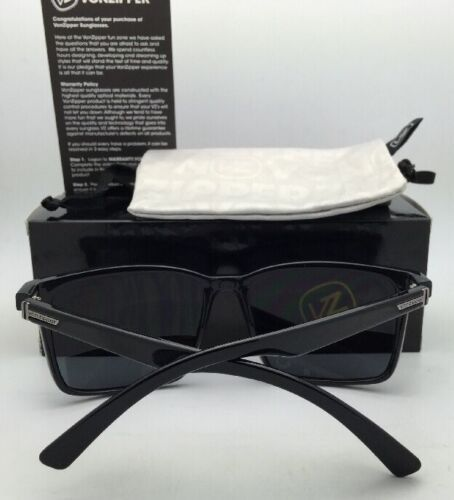 Wildlife Polarized VONZIPPER Sunglasses VZ LESMORE Shiny Black Frame Grey Lenses