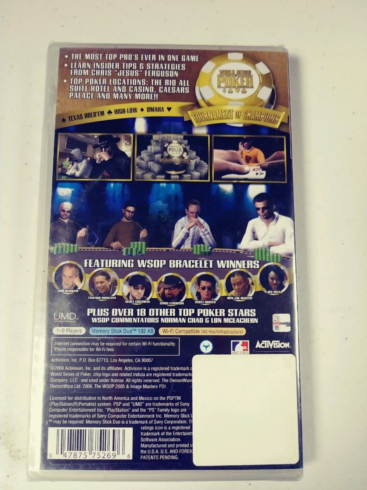 World Series of Poker Tournament of Champions 2007 Edition PSP GAMEW NEW SEALED image 2