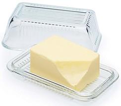 Circleware Farm Glass Butter Dish with Glass Lid, Multi-Purpose Preservi... - $11.63