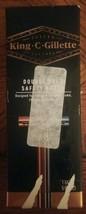 King C Gillette - Chrome-Plated Double Edge Safety, 1 Razor + 5 Platinum... - $19.99