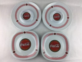"Gibson "" Ice Cold Sold Here Coca Cola "" 7 Plastic Plates 2 Serving Trays - $37.40"