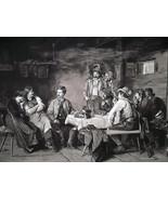 CITY DANDY Visits Tyrol Pub Hunters Girls Laughing - 1888 Fine Antique  ... - $21.60