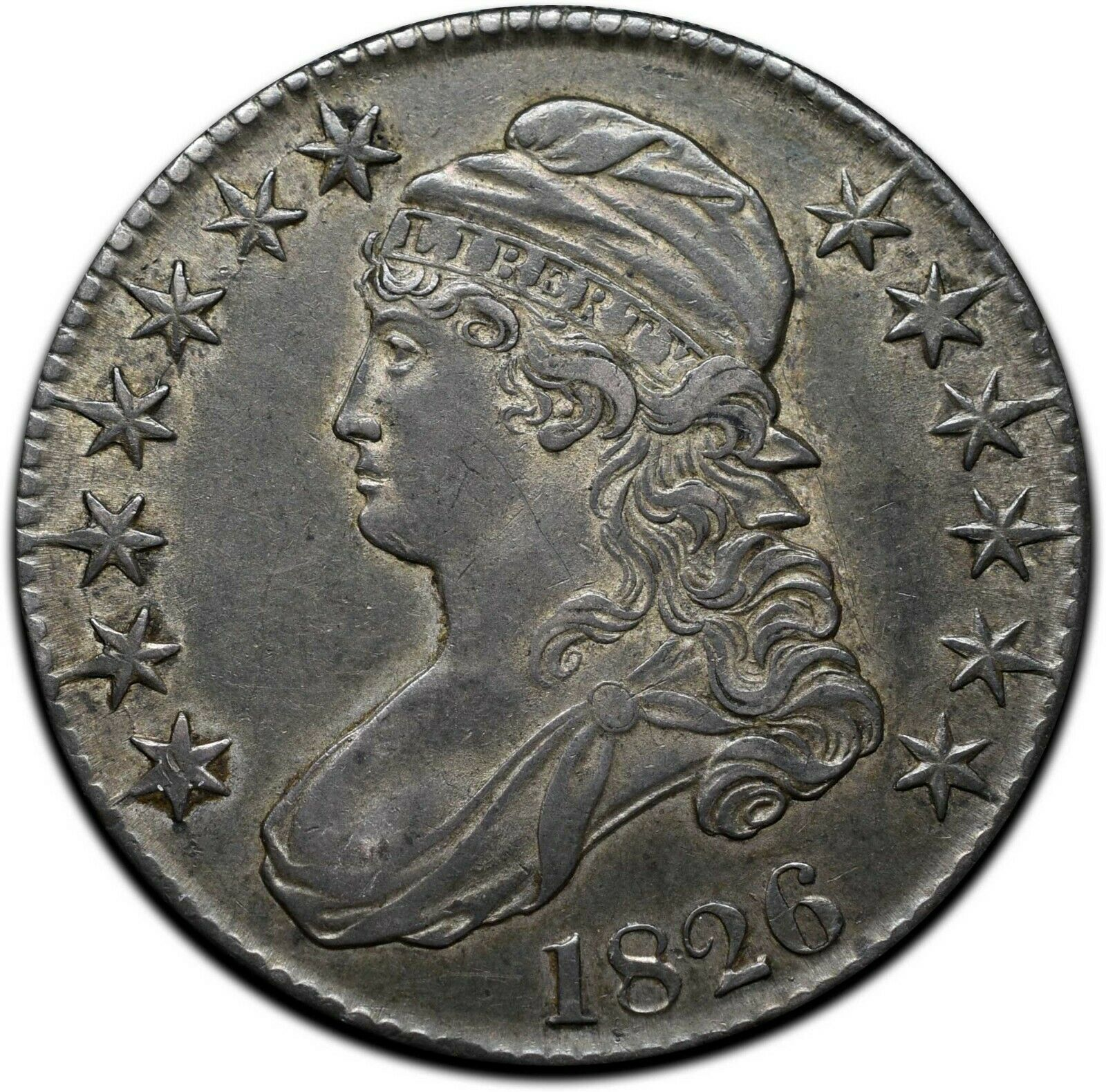 1826 Capped Bust Silver Half Dollar 50¢ Coin Lot# A 391