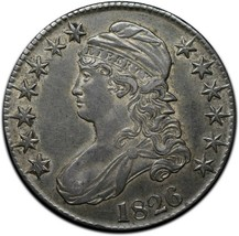1826 Capped Bust Silver Half Dollar 50¢ Coin Lot# A 391 image 1