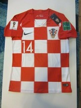 Nike Andreja #14 Croatia Hrvatska 2018 Fifa World Cup Small Home Jersey Patches - $89.99