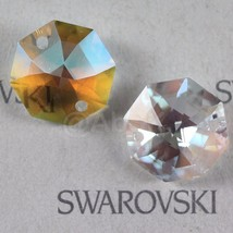 4 pcs Swarovski ANTIQUE Prism Crystal 8116 14mm 2-holes Octagon Pendant ... - $4.50