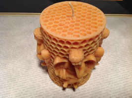 Honeycomb Cherub Volcanica Candle Hand made Bali Made with Beeswax and Palm Wax image 5