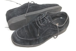 Hush Puppies VTG Wmns Sz 8.5 39 Blk Suede Lace Up Oxfords Loafers Slip O... - £24.02 GBP