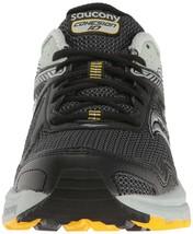 Saucony Uomo Nero/Grigio/Giallo Cohesion 10 Corsa Runners Scarpe Sneaker Nib image 2
