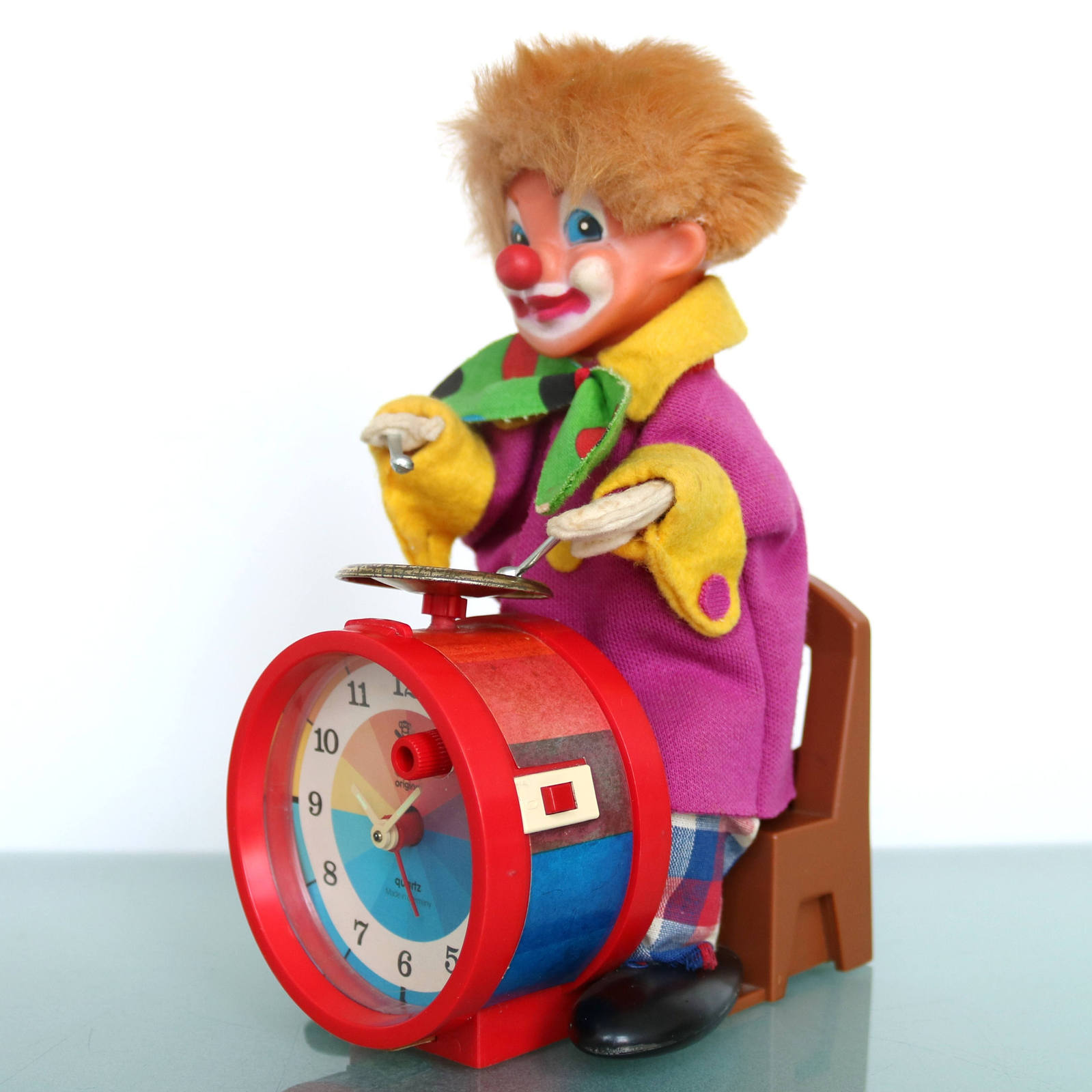 Primary image for CARL Alarm Top Clock Clown Extremely Rare MOTION! ANIMATED! Moving/Sound Germany