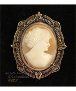 Vintage Carved Shell Cameo Pin Brooch (#J553) - $50.00