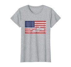 Halloween Shirts -  American Flag Shark Love USA Patriotic T-Shirt 4th of July W - $19.95+