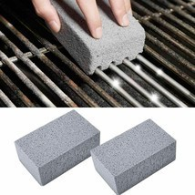 2Pcs BBQ Grill Cleaning Brick Block Barbecue Cleaning Stone Stain Grease... - £10.40 GBP