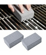 2Pcs BBQ Grill Cleaning Brick Block Barbecue Cleaning Stone Stain Grease... - £10.56 GBP