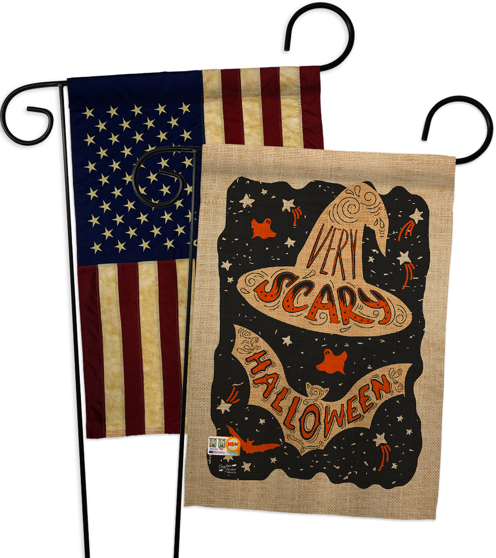 Primary image for Very Scary Halloween - Impressions Decorative USA Vintage - Applique Garden Flag
