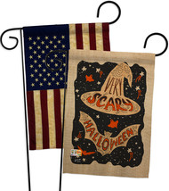 Very Scary Halloween - Impressions Decorative USA Vintage - Applique Gar... - $30.97