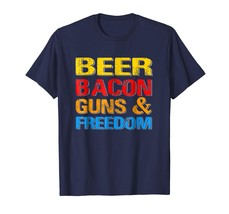 Brother Shirts - Beer Bacon Guns And Freedom T-Shirt 4th of July Gift Men - $19.95+