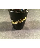 "Vintage Wisconsin Dells Black Shot Glass Collectible 2-1/4"" - $11.99"