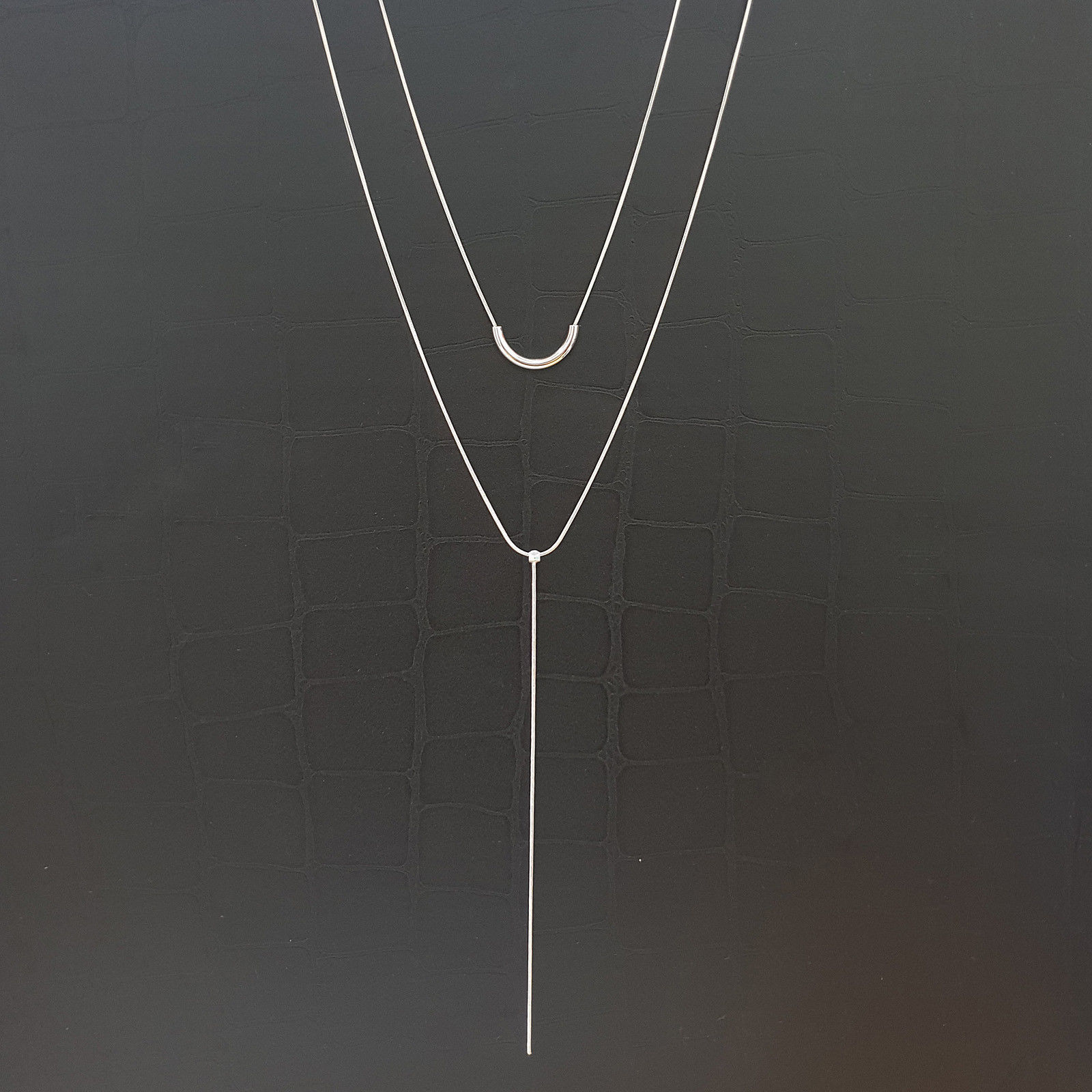 2 Layer Multi-Strand Necklaces Choker Necklace Women Fashion N14