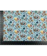 Seaside Starfish Shells Blue 100% Cotton High Quality Fabric Material 3 ... - $7.23+