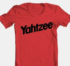 Yahtzee T-shirt retro vintage  1980s classic board game 100% cotton red tee image 1