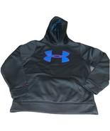 Youth Size Medium Under Armour Gray Hoodie Sweatshirt Blue Magenta Pink ... - $22.00