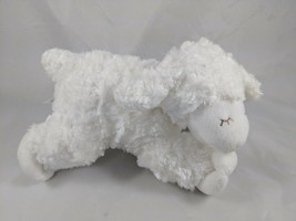 "Baby Gund White WINKY Sheep Lamb Rattle Plush 8"" 58133 Stuffed Animal toy - $5.95"