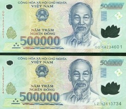 500000 Vietnamese Dong Uncirculated Bank Note for Collectors MINT USA Fa... - $59.39
