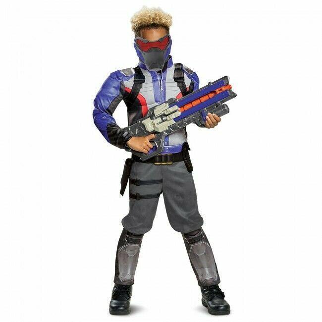 Disguise Overwatch Soldat 76 Muskel Spieler Kinder Halloween Kostüm 19080