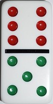 Double 6 Jumbo Dominoes - White With Color Dots - $15.46