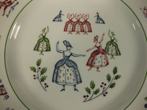 Nine Ladies Dancing Salad Plate Johnson Brothers Twelve Days of Christmas  image 2