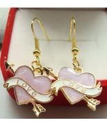 HEART STRUCK LOVE EARRINGS    >> COMBINED SHIPPING <<   (10938) - $3.75