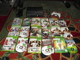 Microsoft Xbox 360 S Slim Model 1439 4GB Black Console W/ 9 games & controller - $178.19
