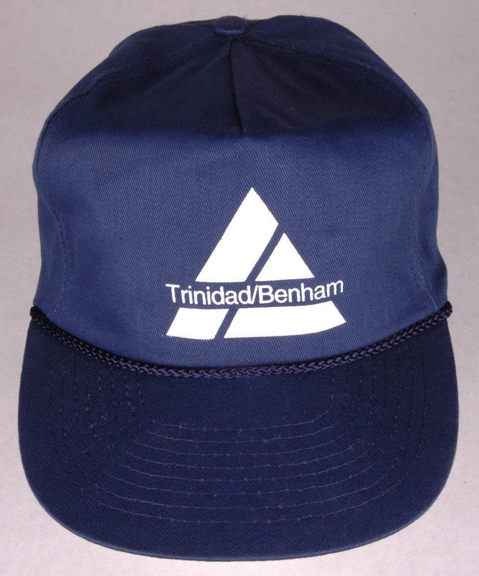 Vtg Trinidad/Benham Hat-Blue-Snapback-Rope Bill-Mohr's-Food Products-Foil-