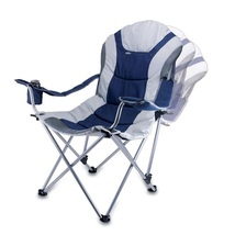 Folding Recliner Chair with Carrying Storage 300 Lbs Capacity Blue Padde... - $72.99