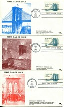 USA #2041 BROOKLYN BRIDGE FDC First Day of Issue Cover Stamps Postage Co... - $8.75