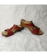 Dansko Res Laser Cut Wedge Slip On Sandals Women's EU Size 39 or US 8.5 ... - $33.66