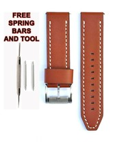 Fossil JR1506 24mm Brown Leather Watch Strap Band FSL112 - $28.71