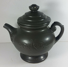 McCoy Pottery Teapot Kettle Cookie Jar 10in Vintage Gray Genie Lamp Cani... - $29.99