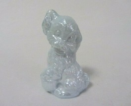 Boyd Art Glass Skippy The Dog Olympic White Carnival B In Diamond Figurine - $7.99