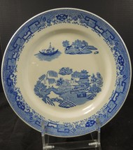 "Restaurant 10 3/4"" Plate * McNicol * Blue Willow Pattern - $7.98"
