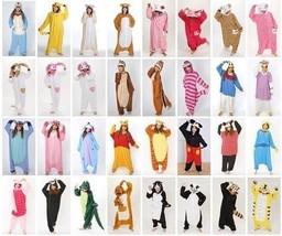 Hot Unisex Adult Onesie Kigurumi Pajamas Anime Cosplay Costume Dress Sle... - $42.99